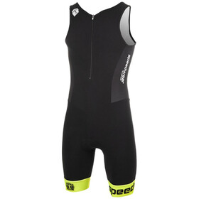 Bioracer Tri Team Suit Men black-fluo yellow